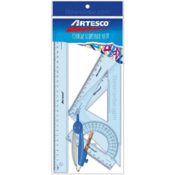 Estuche Geométrico 30 cm de 4 Piezas Artesco + Compás