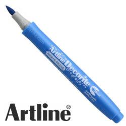 Marcador Punta Pincel Multiuso Artline Decorite - Azul Metálico