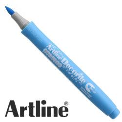 Marcador Punta Pincel Multiuso Artline Decorite - Azul Pastel
