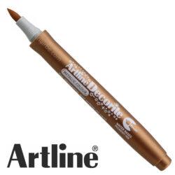 Marcador Punta Pincel Multiuso Artline Decorite - Bronce Metálico
