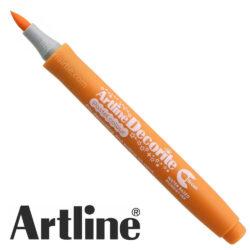 Marcador Punta Pincel Multiuso Artline Decorite - Naranja Pastel