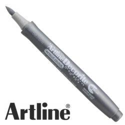 Marcador Punta Pincel Multiuso Artline Decorite - Plateado Metálico