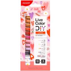 Set 15 Piezas Monami Live Color DIY - Love