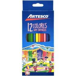 Set de 12 Lápices de Colores Súper Intensos Artesco