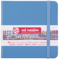 Sketchbook Talens Art Creation con 80 Hojas de 140 g (12 x 12 cm) Azul Lago