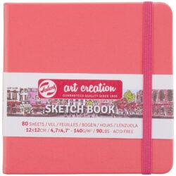 Sketchbook Talens Art Creation con 80 Hojas de 140 g (12 x 12 cm) Rojo Coral