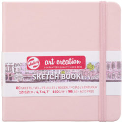 Sketchbook Talens Art Creation con 80 Hojas de 140 g (12 x 12 cm) Rosa Pastel