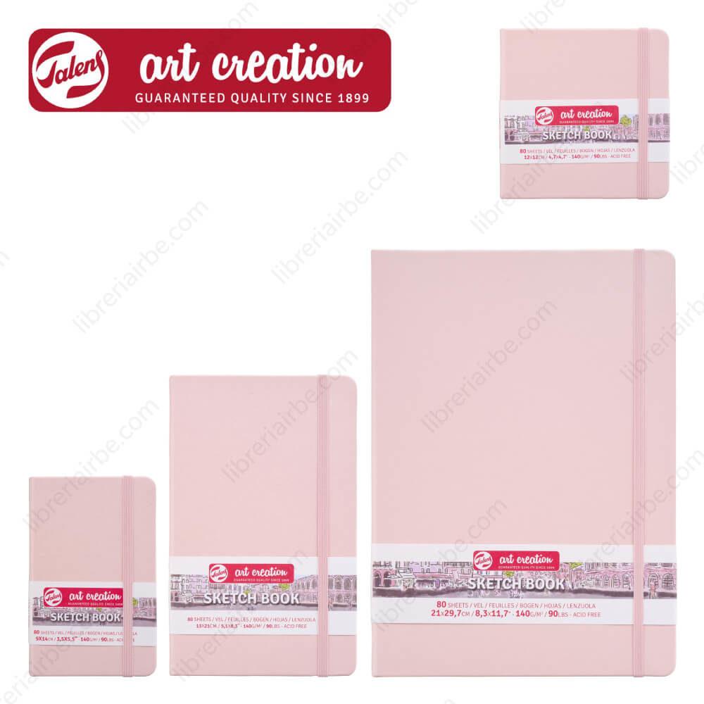 Sketchbook Talens Art Creation con 80 Hojas de 140 g Rosa Pastel