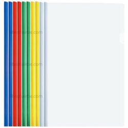 Paquete 10 Folder Flip de Plástico Transparente Tamaño Oficio