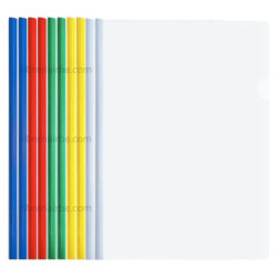 Paquete 10 Folder Flip de Plástico Transparente Tamaño Carta