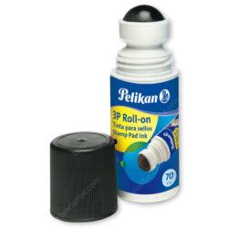 Tinta para Sellos - Tampo 3P Roll On Giraplica Pelikan - Negro