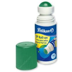 Tinta para Sellos - Tampo 3P Roll On Giraplica Pelikan - Verde