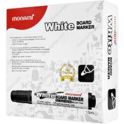 Caja 12 Marcadores de Agua para Pizarra Blanca Monami Negro