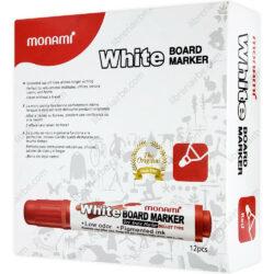 Caja 12 Marcadores de Agua para Pizarra Blanca Monami Rojo