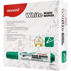 Caja 12 Marcadores de Agua para Pizarra Blanca Monami Verde