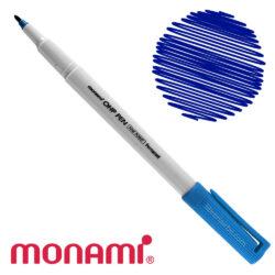 Marcador Permanente Punta Fina Monami OHP PEN - Azul