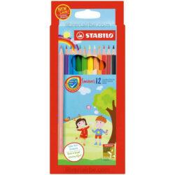 Set 12 Lápices de Colores STABILO Swans 12