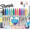 Set 12 Marcadores Permanentes Sharpie Fine Tropical + 5 Tarjetas para Colorear