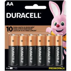 Set 6 Pilas Alcalinas Duracell AA
