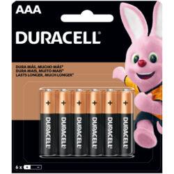 Set 6 Pilas Alcalinas Duracell AAA