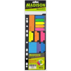 Set de Notas Adhesivas de Contacto, Pestañas y Banderitas MADISON Nº 2