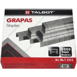 Caja de Grapas Niqueladas TALBOT 23-13