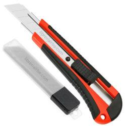 Cortador de Trabajo Pesado con 5 Cuchillas 18 mm de Repuesto Rojo