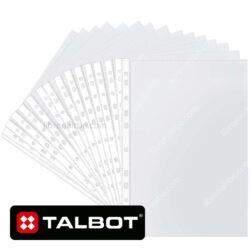 Paquete de 100 Fundas Plásticas Transparentes Tamaño Oficio TALBOT