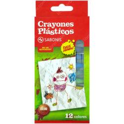 Set 12 Crayones Plásticos SABONIS