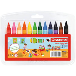 Set 12 Crayones de Cera STABILO Jumbo Yippy-Wax