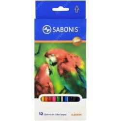 Set 12 Lápices de Colores SABONIS