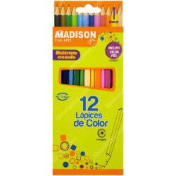 Set 12 Lápices de Colores Triangulares MADISON