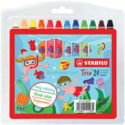 Set 24 Crayones Óleo Pastel STABILO Trio