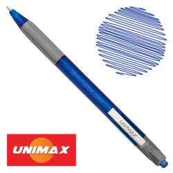 Bolígrafo Retráctil UNIMAX TRIO RT STEEL Azul