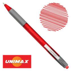 Bolígrafo Retráctil UNIMAX TRIO RT STEEL Rojo