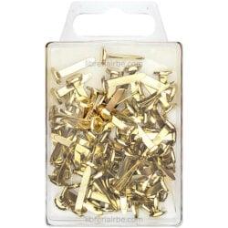 Caja de 100 Fastener - Chinches de Latón 3-4- (19 mm)