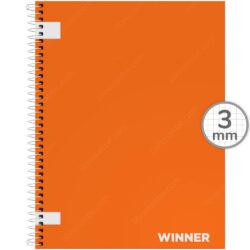 Cuaderno Anillado Carta WINNER con 100 Hojas Cuadriculadas 3 mm (Color Aleatorio)