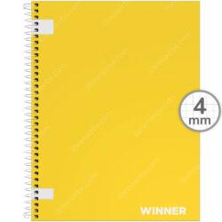Cuaderno Anillado Carta WINNER con 100 Hojas Cuadriculadas 4 mm Aleatorio