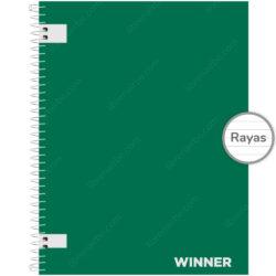 Cuaderno Anillado Carta WINNER con 100 Hojas Rayadas (Portada Aleatoria)