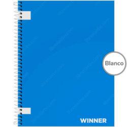 Cuaderno Anillado Carta WINNER con 100 Hojas sin Cuadriculado (Portada Aleatoria)