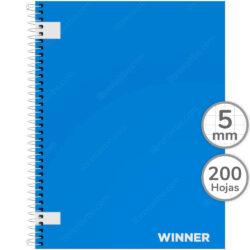 Cuaderno Anillado Carta WINNER con 200 Hojas Cuadriculadas 5 mm