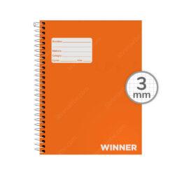 Cuaderno Anillado Medio Oficio WINNER con 100 Hojas Cuadriculadas 3 mm