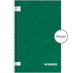 Cuaderno Anillado Oficio WINNER con 100 Hojas Rayadas (Portada Aleatoria)