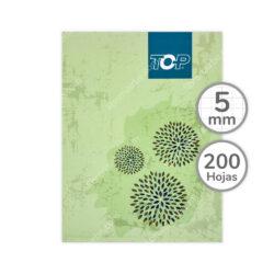 Cuaderno Empastado Medio Oficio TOP con 200 Hojas Cuadriculadas 5 mm