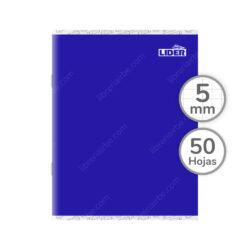 Cuaderno Engrapado Medio Oficio LIDER con 50 Hojas Cuadriculadas 5 mm