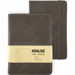 Cuaderno con Hojas Punteadas KRAUSE + Funda Tamaño A6 Marrón