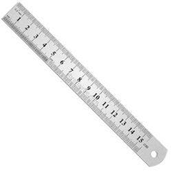Regla 15 cm Metálica (Métrica y Pulgadas)