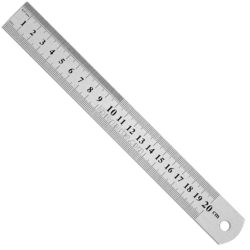 Regla 20 cm Metálica (Métrica y Pulgadas)