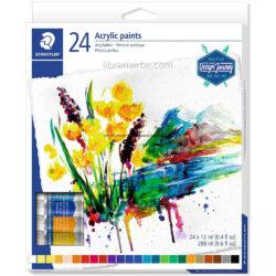 Set 24 Tubos de Pintura Acrílica STAEDTLER