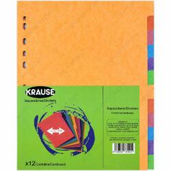 Paquete 12 Separadores de Cartulina Tamaño Carta - A4 KRAUSE